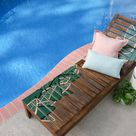 Give a Tired Outdoor Wood Chair a Tropical Update