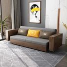 2021 New Design Multifunction Sofa Bed with Folding Armrest Table