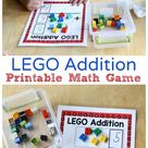 LEGO Addition Mats Printable Math Activity - Frugal Fun For Boys and Girls