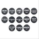Chalkboard Chore Magnets - Family Command Center - Chore Magnets  - Daily Reminders - Job List - Magnetic Chalkboard