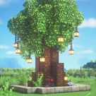 Minecraft Fairy Garden Tree 🍄🌿✨ Magical Fairy Tail Aesthetic Cottagecore Build