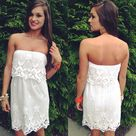 White Crochet Dresses