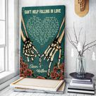 Custom Song Lyric Couple Skull Canvas Wall Art