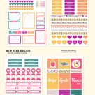 New Year Digital Planner Stickers