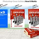 6x9 Paperback Book Mockup  PS Action by coveractionspremium on creativemarket