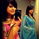 Beautiful Girl in Pink and Blue Saree