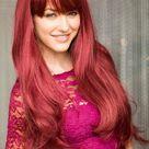 Long red wig, gently layered: Nina