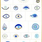 Evil Eye Illustrations + Patterns by Youandigraphics on @creativemarket