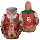 3D All Over Printed Girl Xmas With Tattoo Shirts and Shorts - Hoodie / XL