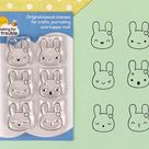 Kawaii Bunny Emotions Stamps Set
