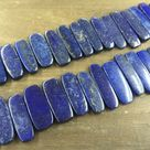 Lapis Slice Bar Beads Graduated Lapis Point Beads Natural Lapis Lazuli Slab&slice beads Supplies Blue Gemstone 10-15*23-45mm full strand