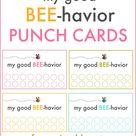 Good Behavior Punch Cards   oldsaltfarm.com