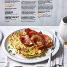 Buttermilk corn pancakes with bacon & maple syrup