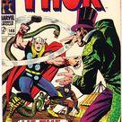 Thor 146 comic, Inhumans Origin book. 1967 Marvel, VF+ (8.5)