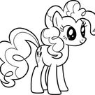 Beautiful Pinkie Pie From My Little Pony Coloring Page - Download & Print Online Coloring Pages for Free