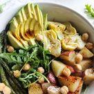 Balsamic Spring Vegetable Salad vegan, gluten free
