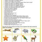 Plauderstunde - Tiere - Mündliche Kommunikation