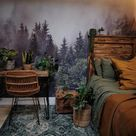 Forest in the Mist Mural, Removable Wallpaper, Self Adhesive Wallpaper, Pasted Wallpaper, Mural, Temporary, Feature Wall