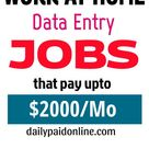 10 Best Work At Home Data Entry Jobs That Pay Upto $2000/Month