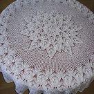 Lace knitting.