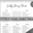 Editable Yearly & Monthly Cleaning Schedule Printable Month   Etsy