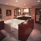 Dark Wood Bathroom
