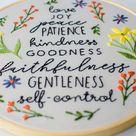 Fruit of the Spirit Intermediate Hand Embroidery Hoop Art PDF Instant Download Pattern