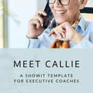 Showit Website Template for Executive Coaches