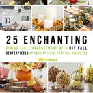 Enchanting Dining Table Arrangement With DIY Fall Centerpieces (Enchanting Dining Table Arrangement With DIY Fall Centerpieces) design ideas and photos