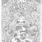 INSTANT DOWNLOAD Yoga On Art for you to Color Be the   Etsy
