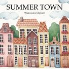Mysterious Town - Watercolor Set