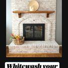 Whitewash your fireplace