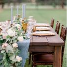 Dusty Blue, Peach, Blush and Cream Wedding Color Palette
