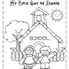 My First Day of School - Coloring page - FREEBIE
