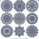 Vetor stock de Mandalas. Elementos decorativos vintage. Padrão oriental, (livre de direitos) 304311323