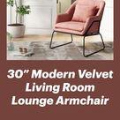 """30"""" Modern Velvet Living Room Lounge Armchair"""