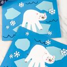 Polar Bear Handprint Craft With Free Template