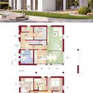 Moderne Neubau Stadtvilla mit Walmdach bauen, Haus Grundriss Ideen 160 qm, 6 Zimmer, gerade Treppe