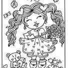 5 Pages Digital Downloads Valentine Girls, sweethearts, digi stamps, cardmaking, crafts, coloring pages, color book