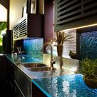 Modern Glass Kitchen Countertop Ideas, Latest Trends in Decorating Kitchens