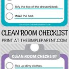 Printable Room Cleaning Checklist for Kids & Easy Ways to Disinfect for Moms • The Simple Parent