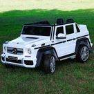 Mercedes Kids Maybach G650 12V Ride-On Car Parental Remote, MP3, Leather Seats, LED Lights - White