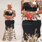 latest ankara skirt and blouse styles for ladies:check out stylish creative skirt and blouse styles