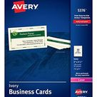 Avery Business Cards for Laser Printers 5376, Ivory, Uncoated, Pack of 250 - Ivory