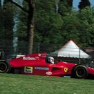 Nicola Larini (ITA) (Scuderia Ferrari), Ferrari 412T1 - Ferrari Tipo 041 3.5 V12 3.5 V12 (finished 2nd) Jean Alesi has to stop for 2 GPs due to his clinched 5th, 6th and 7th cervical vertebrae during a test in Mugello. He is replaced by Nicola Larini, who crosses the line second with the la 412T1 on the tragic weekend of the San Marino GP. 1994 San Marino Grand Prix, Autodromo Enzo e Dino Ferrari © Scuderia Ferrari SpA