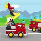 FIRE TRUCK and Fire Fighters Kids Car Cartoon   Lego Gameplay for children