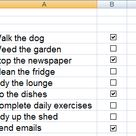 How to Create, Align, and Use a Check Box for a To Do List in Excel 2007 and 2010
