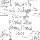 Philippians 4:13 Print And Color Page
