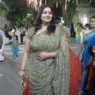 Beautiful Desi Aunty in Gray Saree