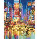 Schipper New York City   Times Square bei Nacht Malen nach Zahlen Vorlage